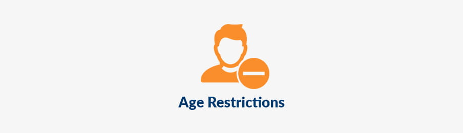 Age restrictions in CA banner