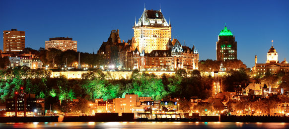beautiful view of quebec city at night