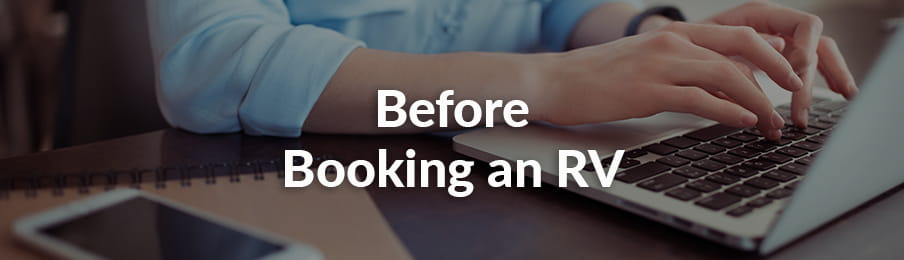 Before Booking an RV in CA banner
