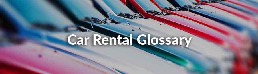 Car Rental Canada Glossary