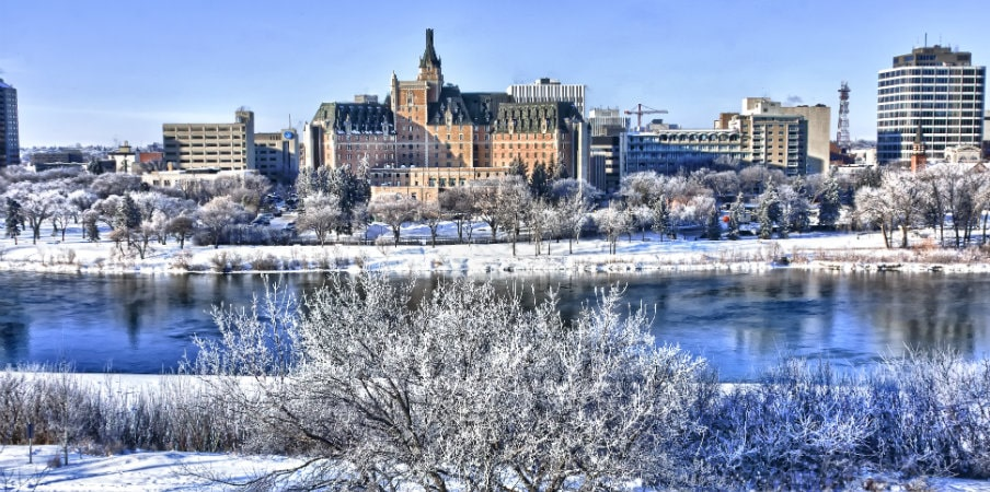city of saskatoon in winter