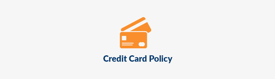 Credit card policy in CA banner