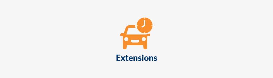 extending rental car booking CA banner