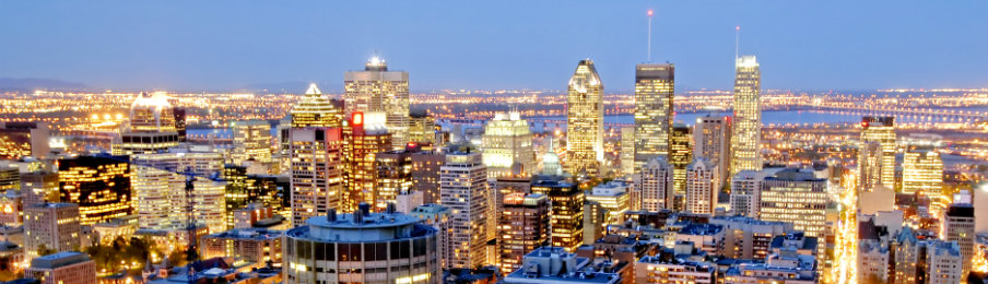 fantastic view of montreal canada at night
