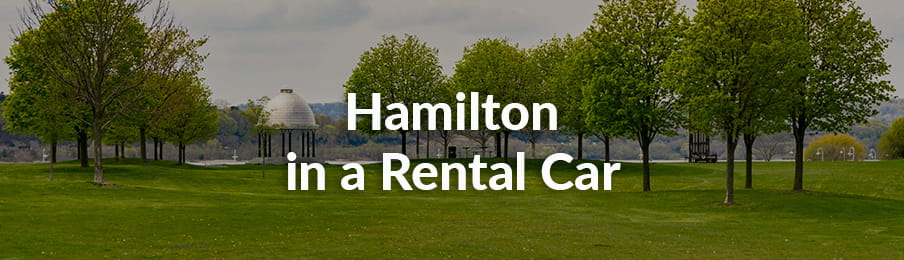 Hamilton in a Rental Car Guide banner