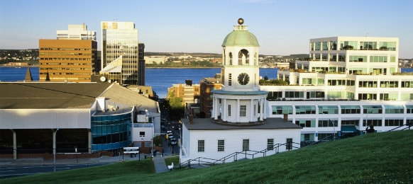 lovely view of downtown halifax in canada