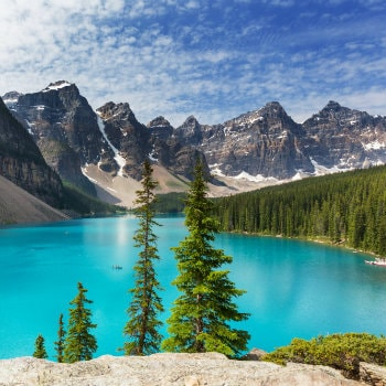 Lake Moraine in Summer