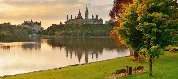 morning view in the lovely city of ottawa