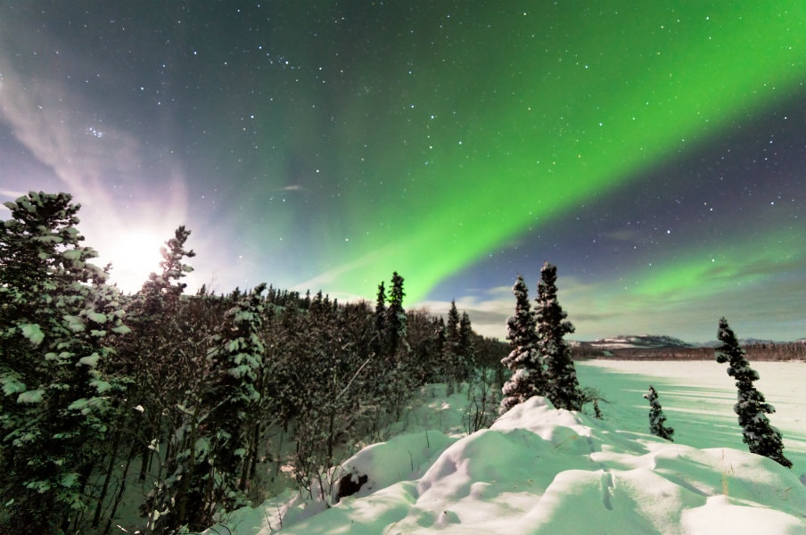 Northern Lights over the Yukon