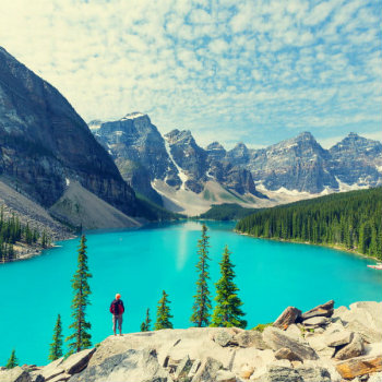 Picturesque Moraine lake in Banff National park, Canada