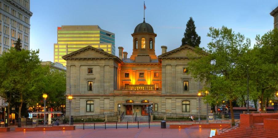 pioneer square courthouse portland, oregon