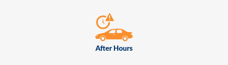 Returning rental cars out of hours in CA banner