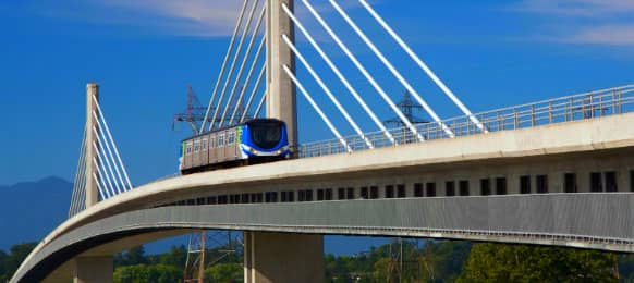Richmond skytrain bridge at Canada