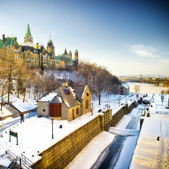 rideau canal in ottawa during winter