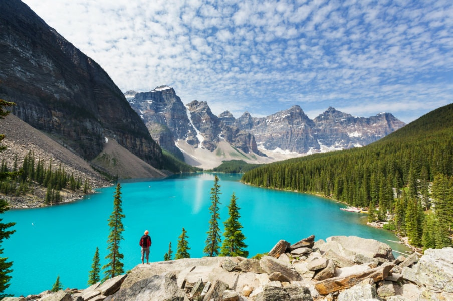 Hiking in the Rocky Mountains, Canada