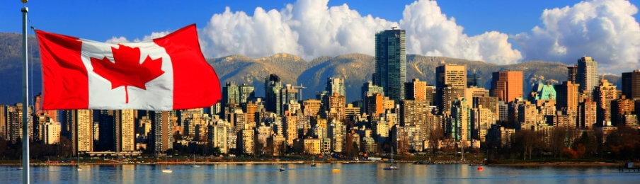 Skyline view of Vancouver Canada