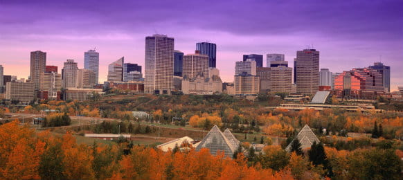 lovely view of downtown edmonton