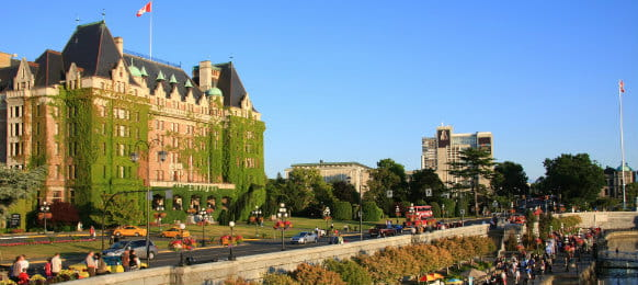 The Fairmont Empress Hotel in Victoria