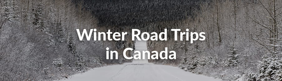 winter road trips in canada